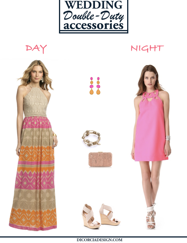 Summer-Wedding-Outfit-Double-Duty-Accessories-Pink-Orange-DiCorcia-Interior-Design