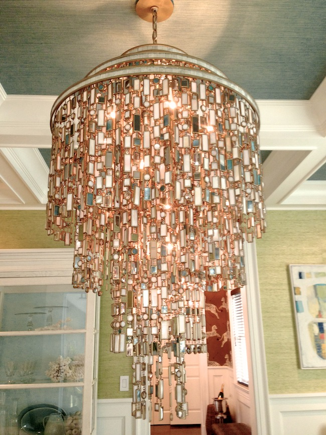 Lillian-August-Hamptons-Designer-Showhouse-Mirror-Chandelier-via-DiCorcia-Interior-Design-NY-NJ