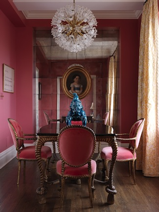 Elizabeth-Bauer-Hot-Pink-Dining-Room-via-DiCorcia-Interior-Design-NY-NJ