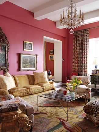 Elizabeth-Bauer-Hot-Pink-Living-Room-via-DiCorcia-Interior-Design-NY-NJ