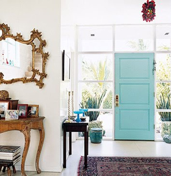 Entryway-Turquoise-Door-Domino-Magazine-via-DiCorcia-Interior-Design-NY-NJ