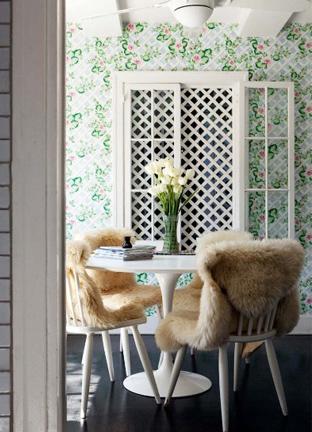 Sheepskin-Throw-Draped-Over-Chairs-Dining-Room-via-DiCorcia-Interior-Design-NY-NJ
