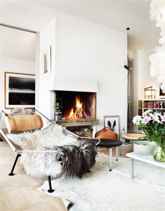 Sheepskin-Throw-Draped-Over-Recliner-Living-Room-via-DiCorcia-Interior-Design-NY-NJ