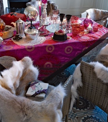 Sheepskin-Throws-On-Chairs-Fall-Winter-Dining-Room-DiCorcia-Interior-Design-NY-NJ