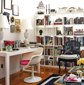 Studio-Apartment-Office-Expedit-Bookcase-Ikea-Domino-Magazine-via-DiCorcia-Interior-Design-NY-NJ