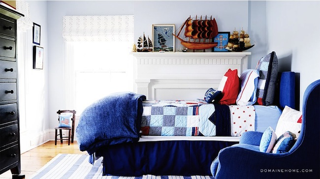 Sag-Harbor-Hamptons-Greek-Revival-Little-Boys-Room-Nautical-Blue-and-Red-Color-Scheme-via-DiCorcia-Interior-Design