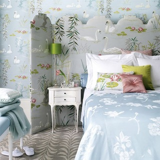 Nina-Campbell-Swan-Lake-Wallpaper-via-DiCorcia-Interior-Design-NY-NJ