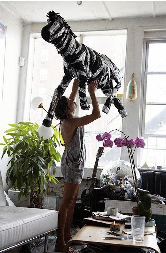 Party-Zebra-Pinata-Disco-Ball