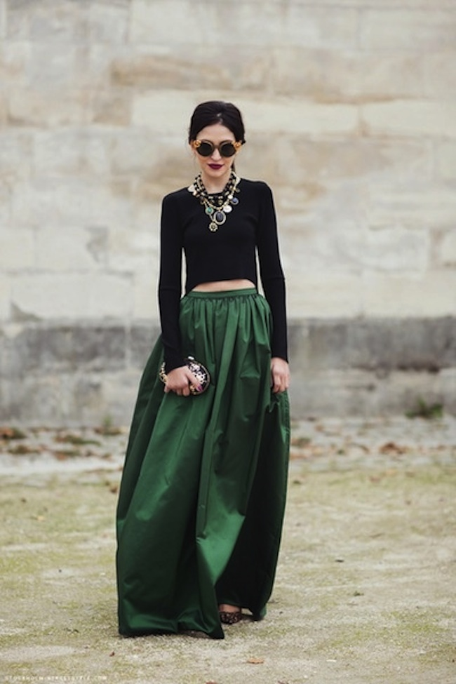 Emerald-Green-Ballgown-Satin-Skirt