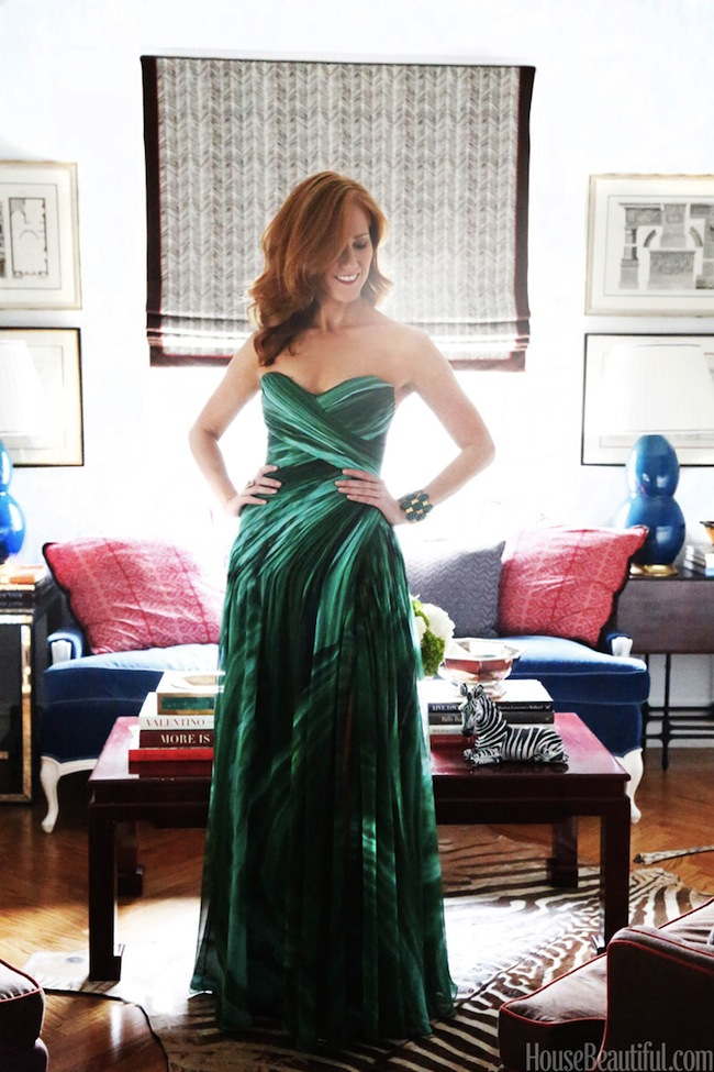 LINDSEY-CORAL-HARPER-MALACHITE-MONIQUE-LHULLIER-DRESS-VIA-DICORCIA-INTERIOR-DESIGN-NY-NJ