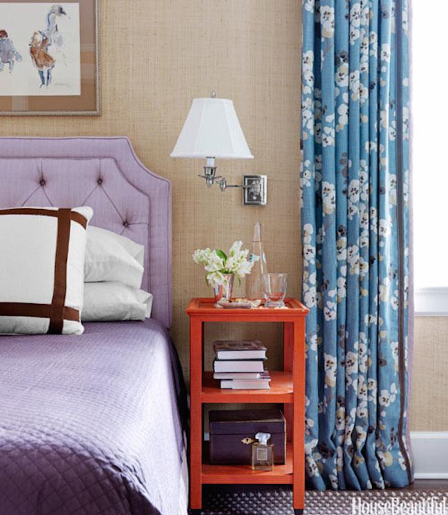 Chintz-Curtains-purple-headboard-bedroom-House-Beautiful-via-DiCorcia-Interior-Design-NY-NJ