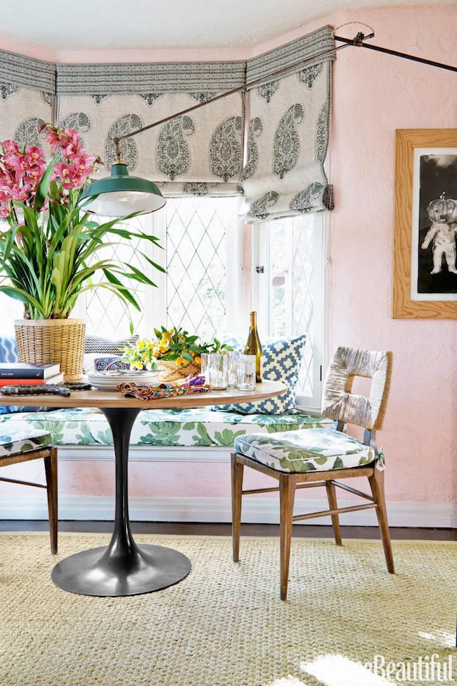 Peter-Dunham-West-Hollywood-apartment-Fig-Leaf-fabric-buffet-via-DiCorcia-Interior-Design-NY-NJ