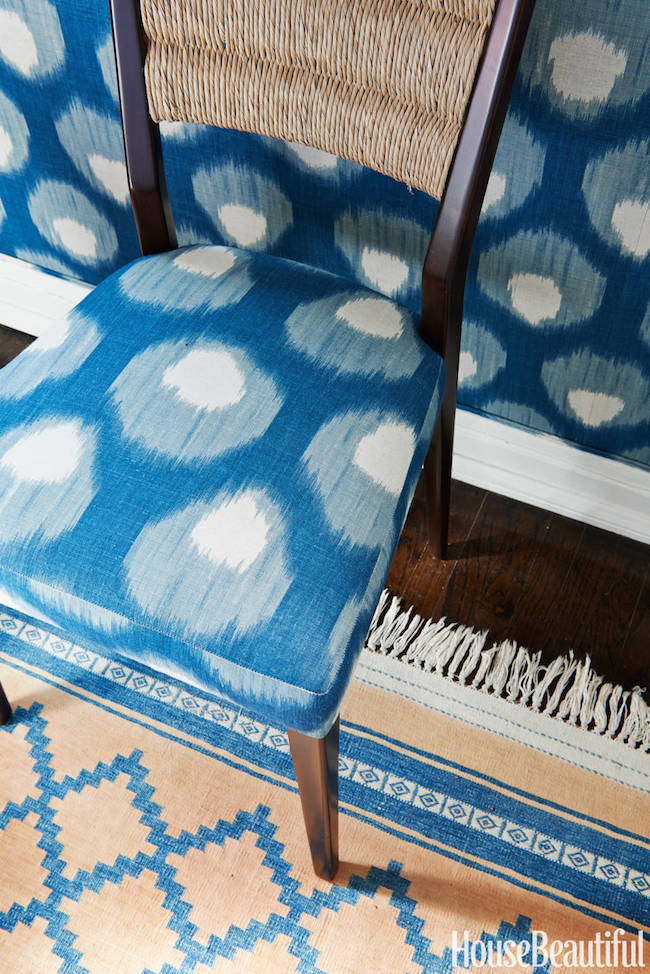 Peter-Dunham-Bukhara-fabric-walls-and-chair-via-DiCorcia-Interior-Design-NY-NJ