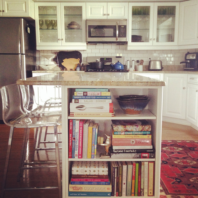 kitchen-bookcase-styling-at-The-Bungalow-DiCorcia-Interior-Design-NY-NJ
