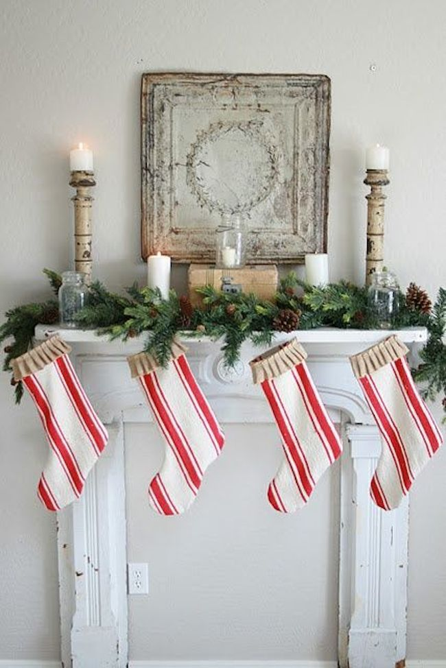 No-Fireplace-Christmas-Stocking-Ideas-Solutions-Faux-Vintage-Fireplace-DiCorcia-Interior-Design-NY-NJ