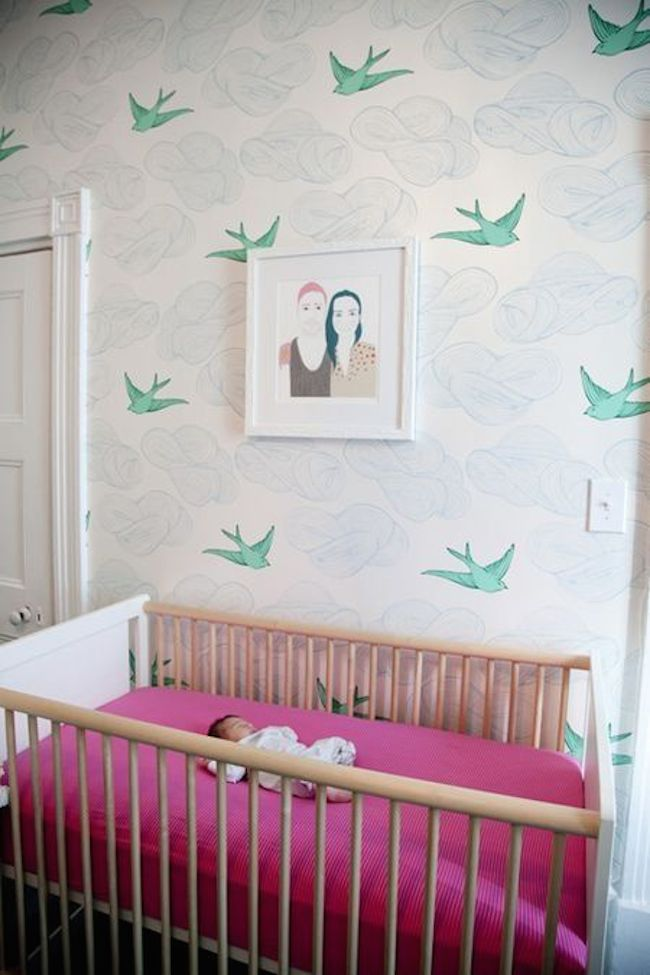 Nursery-Hygge-&-West-Daydream-wallpaper-via-DiCorcia-Interior-Design-NY-NJ