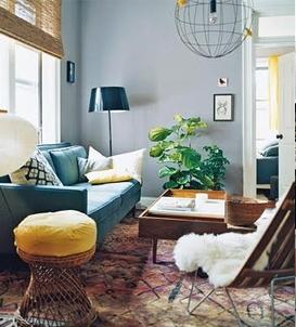 Sheepskin Throw D Over Chair Living Room Via