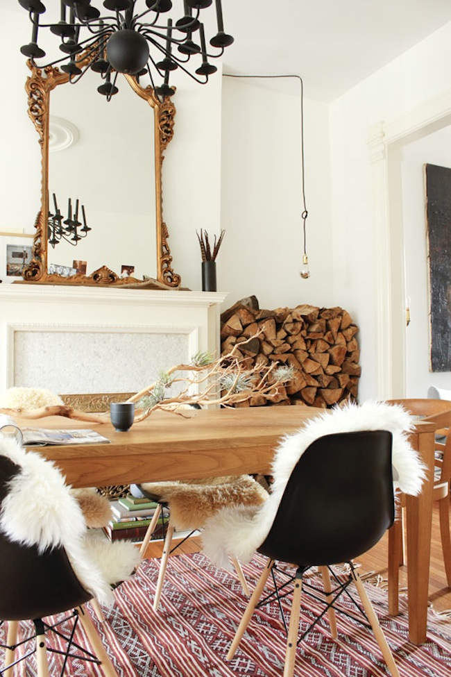 Style Profile Sheepskin Throws On Chairs